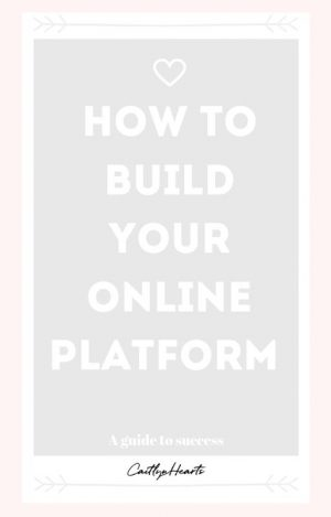 How to build your online platform? A blogger's guide to success